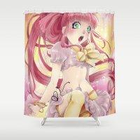 princess bubblegum Shower Curtains featuring Princess Bubblegum by Elisa Ellie Serio