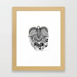 This goodbye is not forever Sympathy  - Zentangle Illustration Framed Art Print