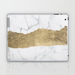 Elegant faux gold foil gray white modern marble Laptop & iPad Skin