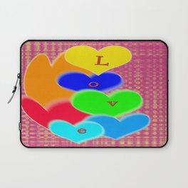 coloured love hearts Laptop Sleeve