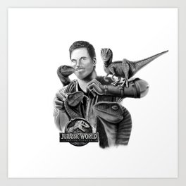 Owen and Raptors Art Print
