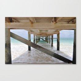 Bajamas Pier Perspective Canvas Print