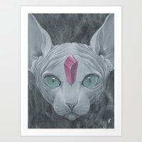 "sphynx Art Prints featuring ""Sphynx"" by Edward Cao"