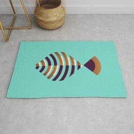 Fish // Geometric Minimalist Illustration Rug