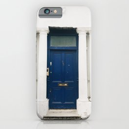 The Blue Door in Notting Hill iPhone Case