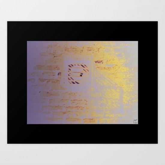 shadow of a cube Art Print