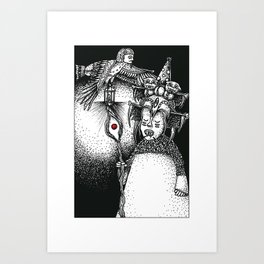 Princess & Ba Art Print