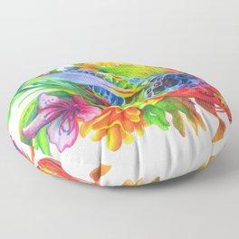 Rainbow Koi Floor Pillow