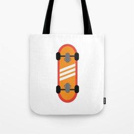Orange Skateboard Tote Bag