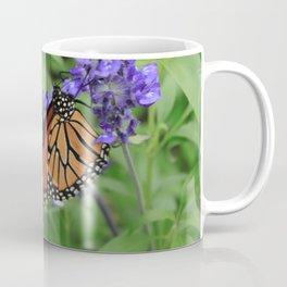 Purple Flowers & Butterfly Coffee Mug