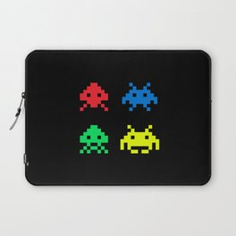 space aliens invaders stylish gamer art Laptop Sleeve