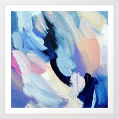 Bibbity Bobbity Blue (Abstract Painting) Art Print