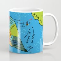 uncharted Mugs featuring Uncharted Waters by miumau