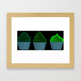 Pink Cupcakes Framed Art Print