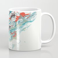 huebucket Mugs featuring Colours In The Sky by Huebucket