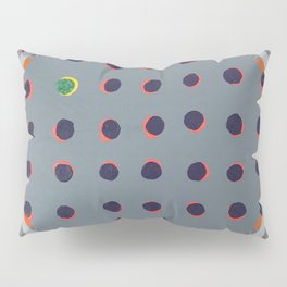 Green Floats on Yellow - orange circle Pillow Sham