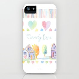 Little Houses: Candy Lane iPhone Case