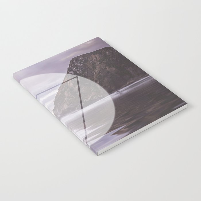 Calm Waters sacred geometry circle triangle Notebook