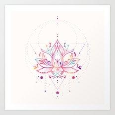 Lotus Prism Art Print