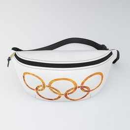 Flaming Olympic Rings Fanny Pack