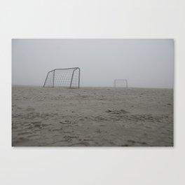 Foggy goals Canvas Print