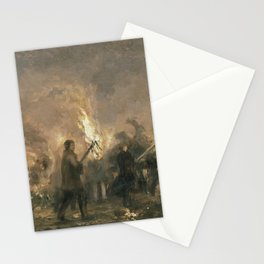 Student Torchlight Procession Adolph Menzel Stationery Cards
