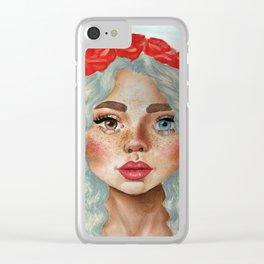 'Girl With Flower Crown' Clear iPhone Case