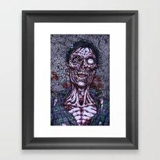 Black Flies Framed Art Print