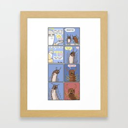 Millipede and centipede Framed Art Print