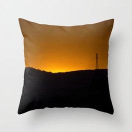 Sunset over the hills Throw Pillow