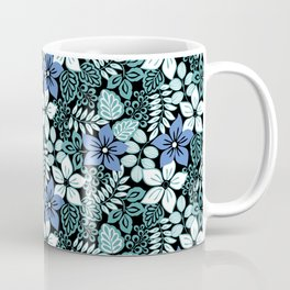 Tropical Floral Aqua Coffee Mug