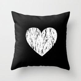 ghost paint heart Throw Pillow