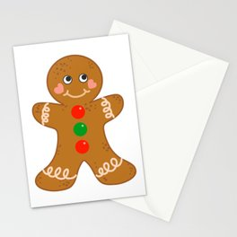 Holiday Gingerbread Man Christmas Cookie Baking Love Stationery Cards