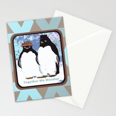It's Better to Weather the Storms Together Stationery Cards