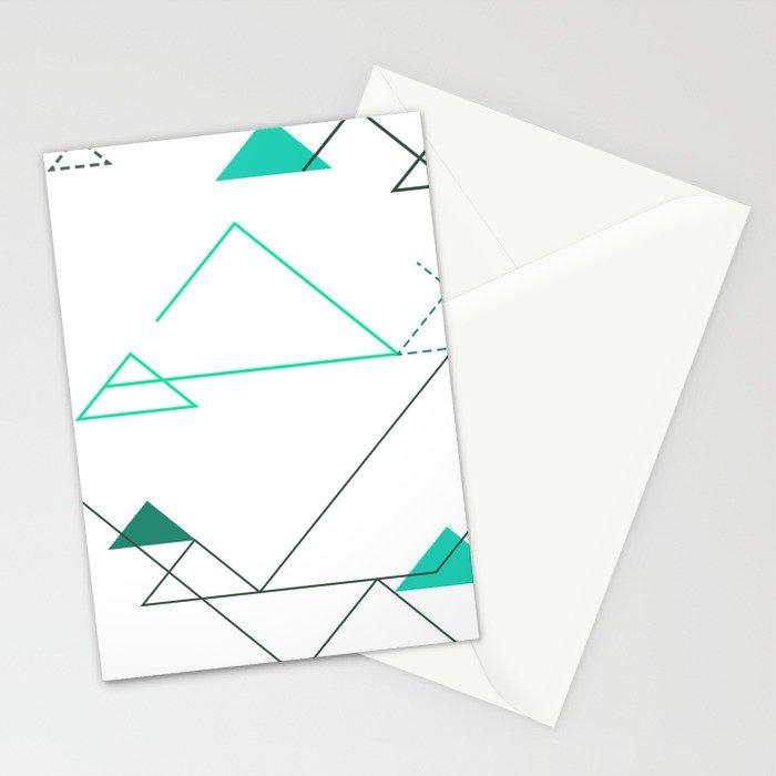 Tree Angle Green Stationery Cards