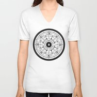 compass V-neck T-shirts featuring Compass Rose by 83 Drops