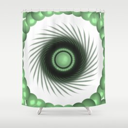 A Touch of the Green Eye Shower Curtain