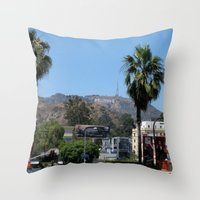 hollywood Throw Pillows featuring Hollywood by Elizabeth Tompkins
