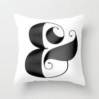 ampersand Throw Pillows featuring Ampersand by Jude Landry
