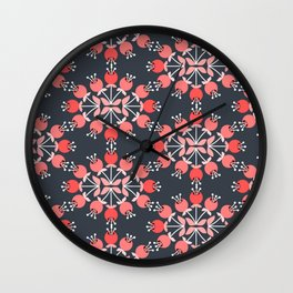 Daily pattern: Retro Flower No.9 Wall Clock