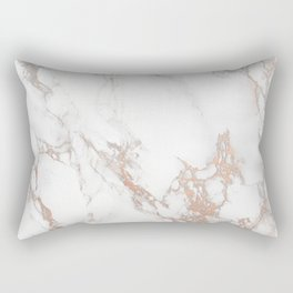 Rosey Marble Rectangular Pillow