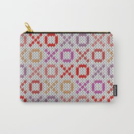 XOXO pattern - light Carry-All Pouch