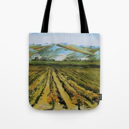 Colors of Napa Valley ll by Lisa Elley, Palette Knife Painting in oil. Tote Bag