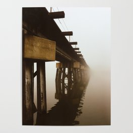 Train Bridge in the Fog-II Poster
