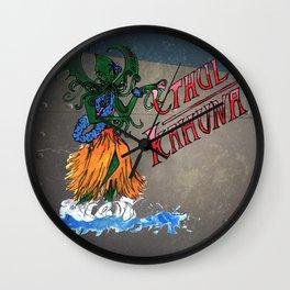 Cthula Hula Girl (Steel Look) Wall Clock