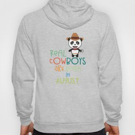 Real Cowboys are born in August T-Shirt Dzqgg Hoody