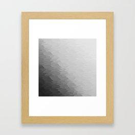Gray Texture Ombre Framed Art Print