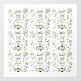 Golden Wedding Tori Beth Art Print