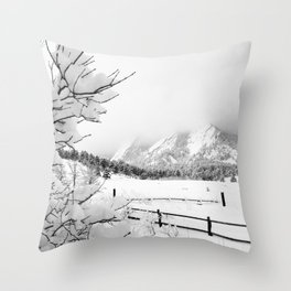 Dusted Flatirons Throw Pillow