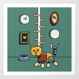 Mechanic cat1 Art Print